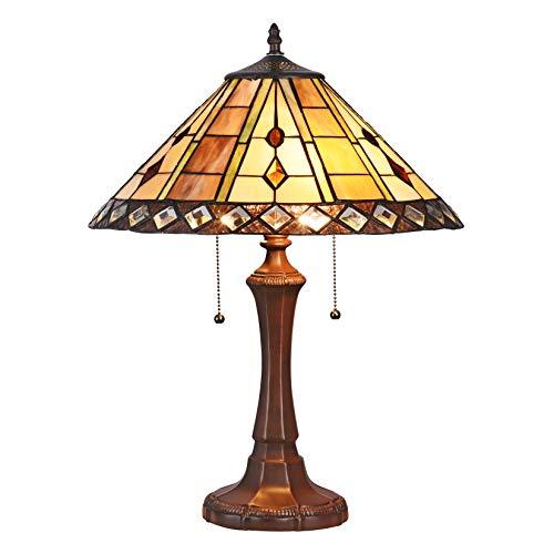 Multi-Colored Umbrella Style Table Lamp
