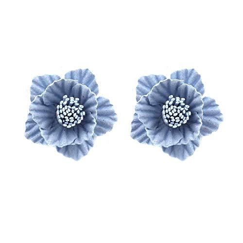 TIANYOU Novedad Joyas-Mujeres Pendientes Pendientes Pendientes Pendientes de gota Línea de la oreja, versión coreana de flores silvestres, Pendientes de tela simples Pendientes hipo
