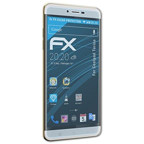 atFolix Schutzfolie kompatibel mit Coolpad Torino Folie, ultraklare FX Bildschirmschutzfolie (3X)