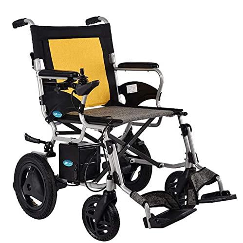 Bestting Silla de Ruedas eléctrica, Anciano eléctrico Scooter Doble Puerta Trasera Delantera para Personas con discapacidades Cómodo Viajes Mayores Seguros