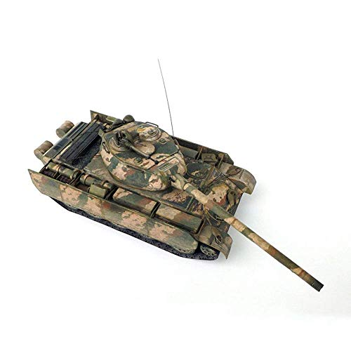XXSHN Lebende Ausrüstung Militärpapier Puzzle Modell Spielzeug Maßstab 1:35 Sowjetischer T-44 Mittlerer Panzer MBT Kinderspielzeug Kits und Geschenke 9,1 Zoll x 2,8 Zoll