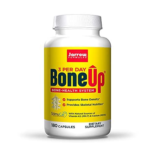 Jarrow Formulas BoneUp Three Per Day - 180 Capsules - Micronutrient Formula for Bone Health - Includes Natural Sources of Vitamin D3, Vitamin K2 (as MK-7) & Calcium - 60 Servings
