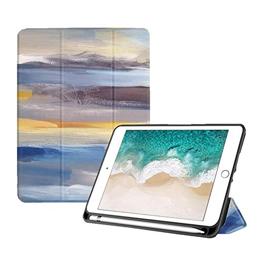 Strnry Case for Ipad 10.2 Inch 2019,Slim Lightweight Stand Protective Case for Ipad 7Th Generation,TPU Soft Back Smart Cover (A2197 A2198 A2200) with Pencil Holder