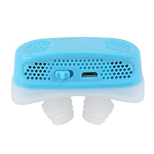 WYYZSS Dispositivos Antirronquidos 2 En 1, Tapones para Ronquidos, Tapón para Ronquidos Y Purificador De Aire Respirable, Dilatador Nasal, Solución para Dejar De Roncar,Azul