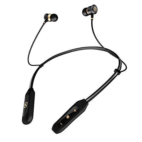 Bluetooth Headphones Neckband, True Surround Stereo Sound Cell Phone Bluetooth Neckband Earphones 12 Hours Playtime Around The Neck Wireless Earbuds Retractable Headset