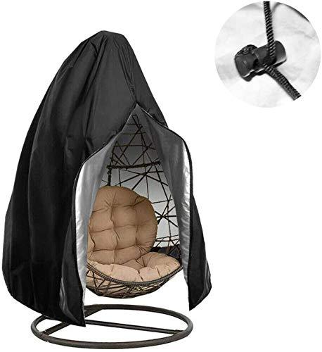 Lianghao - Funda protectora para silla colgante Oxford resistente al agua, silla flotante con revestimiento de poliuretano, cubierta para lluvia, resistente al agua, 115 x 190 cm, color negro