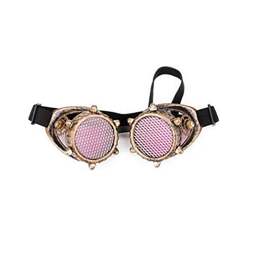 ZAIQUN Vintage Lenses Steampunk Goggles Barbed Wire Glasses Retro Welding Punk Gothic Cosplay Halloween Eyewear steampunk buy now online