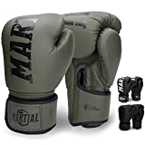 Martial Boxhandschuhe - NEUES Modell - aus bestem Material für Lange Haltbarkeit! Kickboxhandschuhe für Kampfsport, MMA, Sparring und Boxen mit optimaler Schlagdämpfung - inkl Beutel!