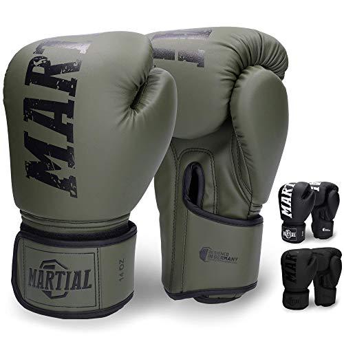 Guantoni da Boxe Martial Realizzati con Il miglior Materiale per Una Lunga Durata! Guanti da Kickboxing per Arti Marziali, MMA, Sparring e Boxe con Assorbimento ottimale degli Urti. Grande Comfort!