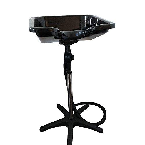 Lavacabezas con pie para el lavado del cabello, portátil, ajustable, para peluquería a domicilio