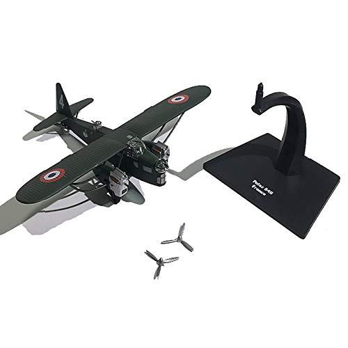 KDMB Modelo de avión Modelo de avión, Bombardero francés Potez540, con Tren de Aterrizaje, Modelo Militar de Combate de Metal, Modelo de avión Militar, para Modelo de avión Comm