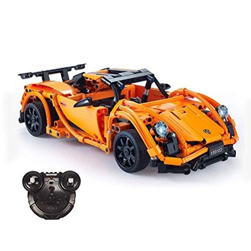Rennwagen-Bausteine Modell Fernbedienung Supercar Gebäude-Ziegelstein Model Set, Geschenk DIY Puzzle Kleine Partikel Versammlung Sportwagen For Erwachsene Und Kinder für Erwachsene Jugendliche und K