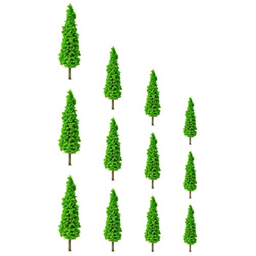 TOYANDONA 12 Piezas Modelo Árboles Tren Paisaje Arquitectura Árboles Plástico Falso Árboles...