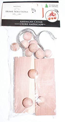 Laundry Solutions by Westex 6 Planks, 12 Cedar Ball Closet Set Brown