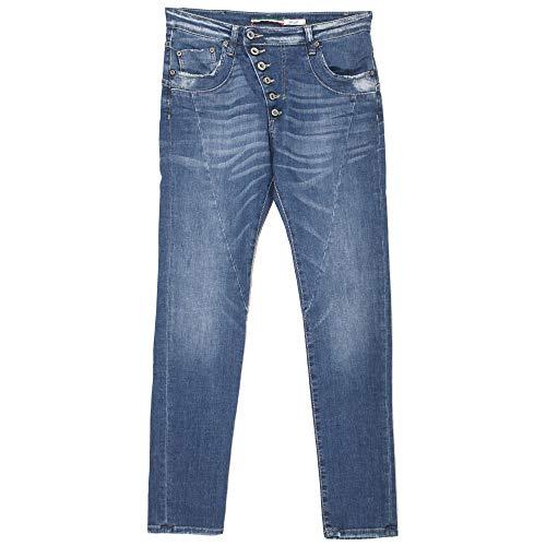Please, P46M, Damen Damen Jeans Hose Stretchdenim Medium Blue XX-Smal [21005]