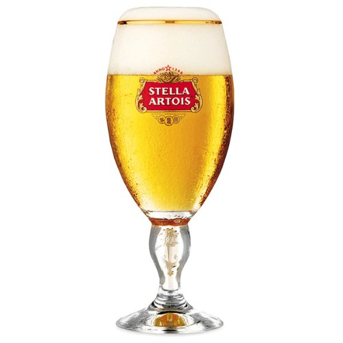 Stella Artois - Confezione di 4 bicchieri, 568 ml, con bordo oro e stelo