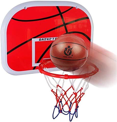 SUON Aro de Baloncesto Baloncesto Hoop Kids con Bola de Baloncesto Soporte para niños Movimiento al Aire Libre 46.5x32.5cm Tablero portátil