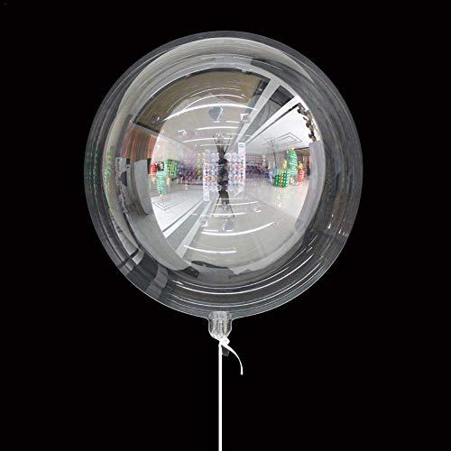 Diafrican - 10 globos redondos de PVC transparente decoración de fiesta de Navidad, fiestas de cumpleaños, decoración de la casa de bodas