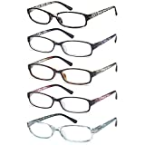 Gamma Ray Women's Reading Glasses 4 Print Ladies Fashion Readers for Women - 1.50