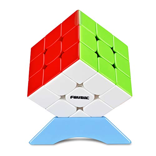 FAVNIC Magic Cube 3x3 stickerless Smooth Puzzle Cube Toys Cube Game for Kids