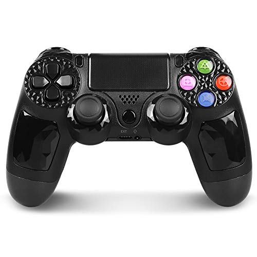 PowerLead Controller für PS4, Wireless Gaming Controller 6 Achsen Dual Vibration Shock Gamepad für Playstation 4 / Playstation 3 / PC mit LED-Touchpad und Audio-Buchse