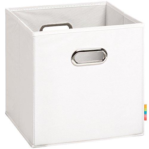 (H&S) Aufbewahrungsbox MIA - Faltbox - Korb - 28x28x28 cm - (Weiß)