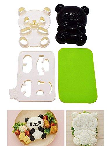 Molde para bolas de arroz, Bento Accessories Moldes de bola de arroz Onigiri y cortador de algas tostadas secas, Baby Bear