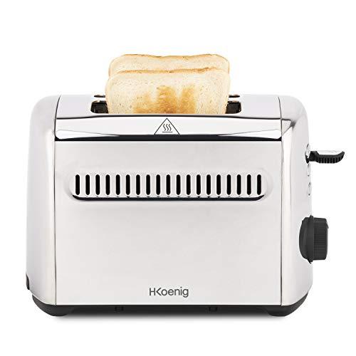 H.KOENIG TOS9 Toaster 2 Scheiben, Edelstahl
