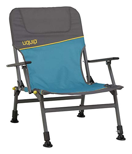 Uquip Lofty Camp Chair - Height Adjustable Fishing Arm Chair, Heavy Duty, 260 lbs