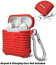Humble Ultra Protective Soft Silicone Shock Proof Protective Cover Case for Apple AirPods (Red)