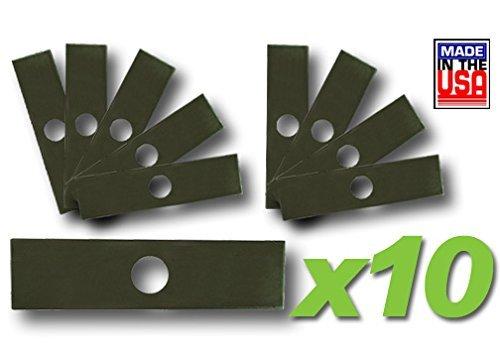 "MowerPartsGroup (10) Pk Edger Blades 8"" X 2"" Fits Echo Stihl Husqvarna Ryobi Shindaiwa Red Max"