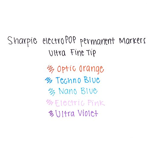 Sharpie 1919848 Permanent Markers, Ultra Fine Point, Assorted 2015 Colors, 5-Count