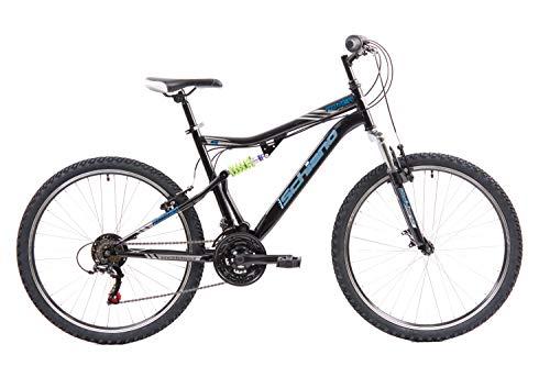 F.lli Schiano Rover, Bici Biammortizzata Unisex Adulto, Nero-Blu, 26''