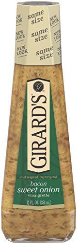 Girard's Bacon Sweet Onion Vinaigrette 12 oz glass bottles ( Pack of 6)