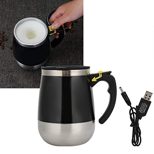 KIRSTHM Self Stirring Coffee Mug Cup- Funny Electric Stainless Steel Automatic Self Mixing & Spinning Home Office Travel Mixer Cup Best Cute Christmas Birthday Gift Idea for Men Women Kids