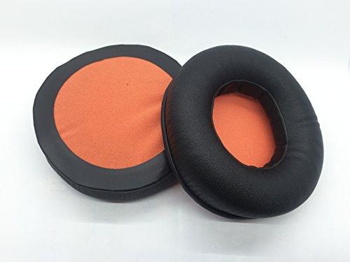 Vervanging eiwit kussen oorkussens oordop kopjes oorkussens kussensloop Voor JBL Synchros S700 s 700 Headset Hoofdtelefoon, black-orange thicker