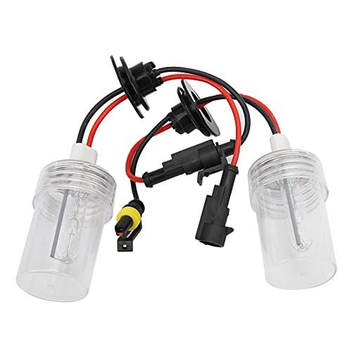 2 piezas de bombillas de faros delanteros automáticos, bombillas de faros antiniebla HID de xenón, tubo de cuarzo H7, 100 W, 8000 K, bombillas de faros delanteros para vehículos de 12 V, kit de repues