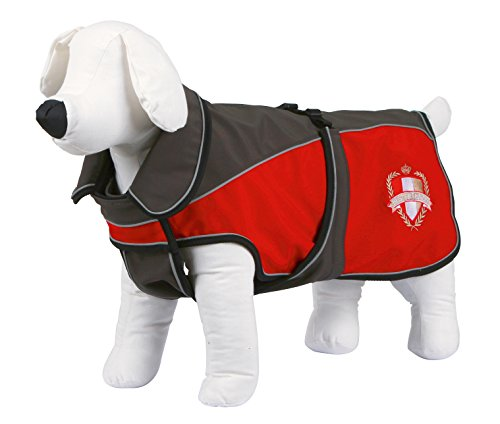 Kerbl Hunde Softshellmantel Lathi, Hundemantel, Fleeceinnenfutter, Grau/Rot XL