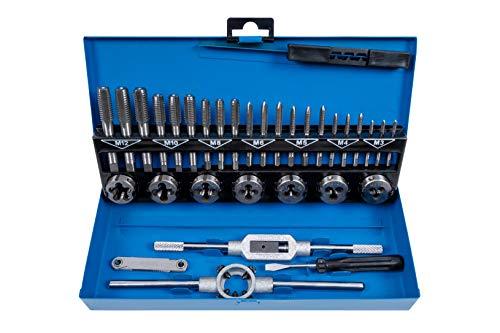 BlueSpot Tools 22301 32PCE Metric Tap and Die Set (M3-M12)