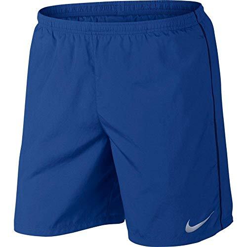Nike M NK Run Short 7in - Herrenhose L Blau/Silber (Indigo Force/Blue Void/Reflective silv)