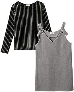 [nissen(ニッセン)] 2点セット ジャンスカ+ Tシャツ 女の子 子供服 ジュニア服 女の子 キッズ セット組