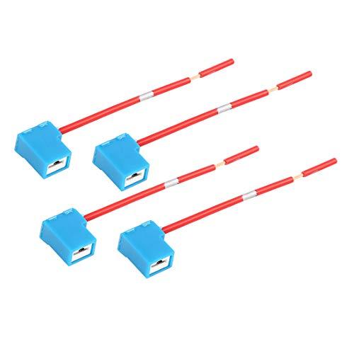 Sourcingmap DC 12V H1 H3 - Conector de cableado para Faros Delanteros de Coche (4 Unidades)