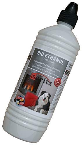 Moritz 1000 ml Bio Ethanol >95% - 96,6% Premium Alkohol für Ethanolkamine Gelkamine Bambusfackeln rückstandslose Verbrennung aus nachwachsenden Rohstoffen