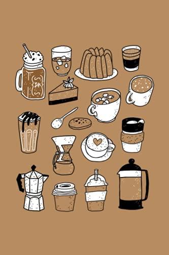 Kaffee und Kuchen: Notizbuch (120 Seiten, 15x23cm, gepunktet) Dotted Bullet Grid Tagebuch Journal