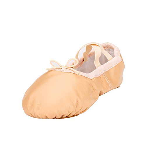 MSMAX Leather Dance Shoes for Kids Girls Professional Ballet Gymnastic...