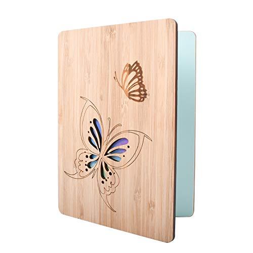 EKKONG Beschreibbare Bambuskarte mit Schmetterling | Glückwunschkarte | Hochzeitskarte | Geburtstagskarte | Geschenkkarte | Weihnachtskarte | Einladung Karte