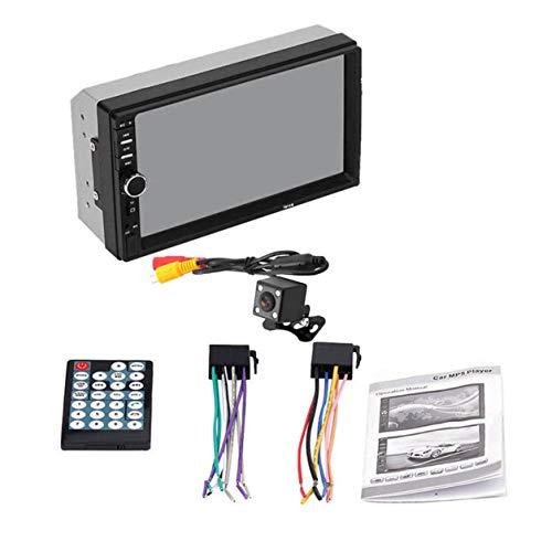 YXDS Reproductor MP5 de 2 DIN 7 Pulgadas Pantalla táctil LCD Auto Radio Reproductor de Video Música Audio con Soporte USB Cámara Trasera
