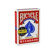 Bicycle Playing Cards - Poker Size, [Colors May Vary: Red, Blue or Black]