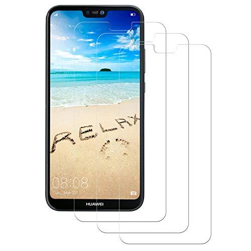 Aspiree Panzerglas Schutzfolie für Huawei P20 Lite, [3 Stück] P20 Lite Gehärtetes Glas Displayschutzfolie mit 9H Härte, HD Ultra Klar, Anti-Kratzen, Anti-Öl, Displayschutz Folie