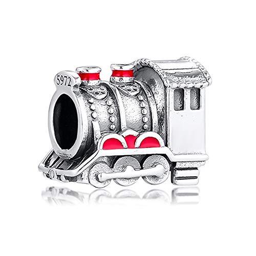 MOCCI 2019 Winter Train Bead 925 Silber DIY passt für Original Pandora Armbänder Charm Modeschmuck